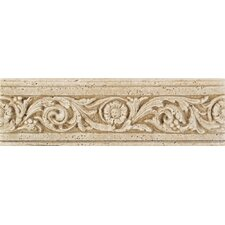 "Fashion Accents 13"" x 4"" Romanesque Decorative Listello in Flora Travertine"