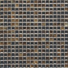"Fashion Accents 0.63"" x 0.63"" Glass Mosaic Tile in Umber"