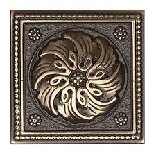 "Metal Ages 2"" x 2"" Celtic Glazed Decorative Tile Insert in Polished Bronze"