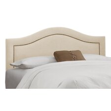 Nail Button Regal Upholstered Headboard