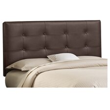 Tufted Faux Leather Upholstered Headboard