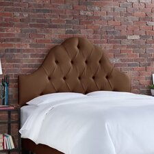 Tufted High Arch Shantung Upholstered Headboard