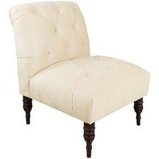 Shantung Tufted Slipper Chair