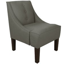 Twill Swoop Arm Chair