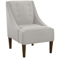 Napa Cotton Swoop Arm Chair