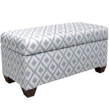 Ikat Upholstered Storage Bedroom Bench