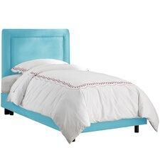 Border Premier Microsuede Upholstered Panel Bed