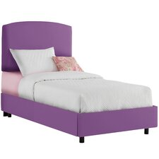 Duck Cotton Upholstered Panel Bed