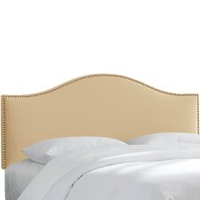 Nail Button Velvet Upholstered Headboard