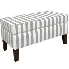 Canopy Stripe Upholstered Storage Bedroom Bench