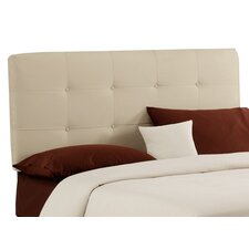 Double Button Tufted Upholstered Headboard