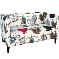 Hearts Five Button Loveseat