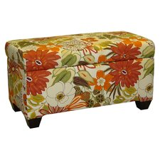 Upholstered Lilith Cotton Storage Ottoman