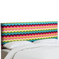 Nail Button Panama Wave Upholstered Headboard