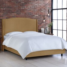 Wingback Upholstered Panel Bed