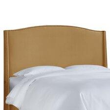 Nail Button Velvet Wingback Upholstered Headboard