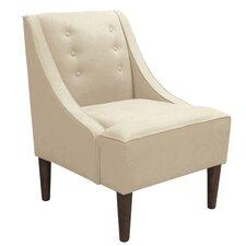 Swoop Velvet Arm Chair