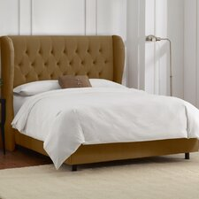 Mystere Diamond Upholstered Wingback Bed