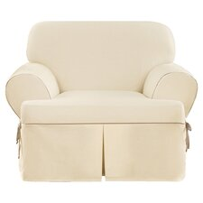 Cotton Duck Armchair T-Cushion Slipcover
