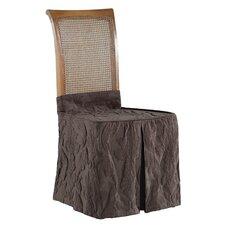 Matelasse Damask Dining Chair Skirt Slipcover