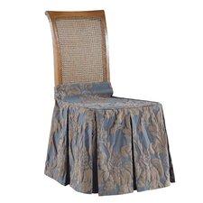 Matelasse Damask Chair Seat Skirt Slipcover