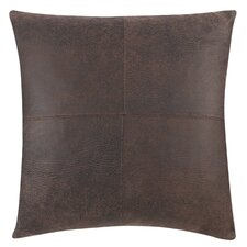 Ultimate Stretch Faux Leather Throw Pillow