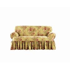 Ballad Bouquet Loveseat T-Cushion Skirted Slipcover