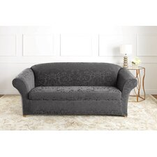 Stretch Jacquard Damask Sofa Slipcover