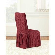 Matelasse Damask Chair Slipcover