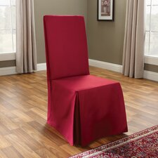 Cotton Duck Long Chair Slipcover