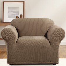Simple Stretch Ticking Stripe Chair Slipcover