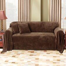 Plush Throw Chair / Loveseat Slipcover