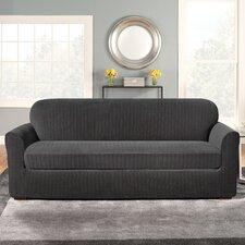 Stretch Pinstripe Sofa Slipcover