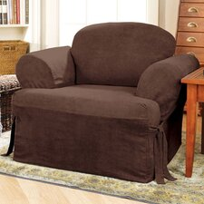 Soft Suede Armchair T-Cushion Slipcover