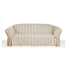 Seaside Sofa T-Cushion Skirted Slipcover
