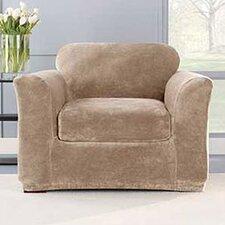 Stretch Plush Armchair Slipcover (Set of 2)
