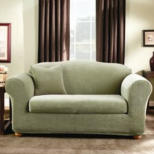 Stretch Stripe Loveseat Slipcover