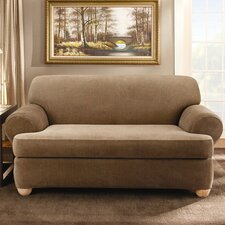 Stretch Stripe Sofa T-Cushion Slipcover