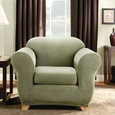Stretch Stripe Armchair Slipcover