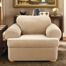 Stretch Stripe Armchair T-Cushion Slipcover