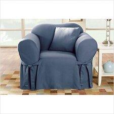 Cotton Duck Box Cushion Arm Chair Slipcover