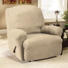 Stretch Faux Suede T-Cushion Recliner Slipcover