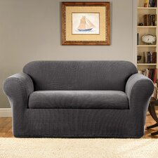 Stretch Metro 2-Piece Box Cushion Loveseat Slipcover