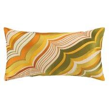 Malibu Oblong Embroidered Linen Lumbar Pillow