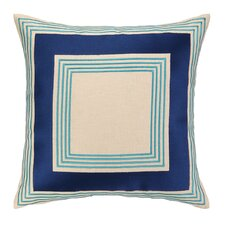 Brea Embroidered Linen Throw Pillow