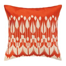 Lomita Embroidered Linen Throw Pillow