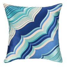 Malibu Embroidered Linen Throw Pillow