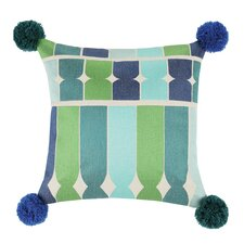 Ines Embroidered Linen Throw Pillow