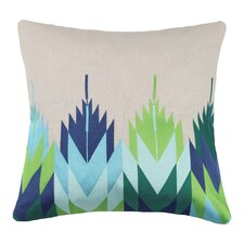 Cypress Embroidered Linen Throw Pillow