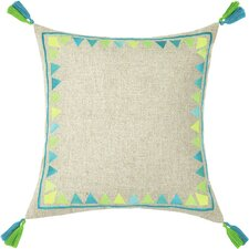 Neon Solona Embroidered Linen Throw Pillow
